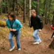 Hiking The Chilkoot Gold Mine Trail, Alaska, USA — Foto Stock