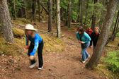 Hiking The Chilkoot Gold Mine Trail, Alaska, USA — Stock Photo