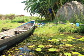 Flotante de pesca village - uganda, áfrica — Foto de Stock