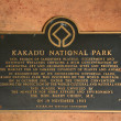 UNESCO Info Sign - Kakadu National Park, Australia — Stock Photo