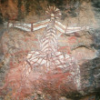 Aboriginal Rock Art - Kakadu National Park, Australia — Stock Photo