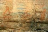 Arte rupestre aborígine - parque nacional de kakadu, austrália — Foto Stock