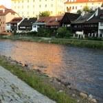 Vltava River - Cesky Krumlov, Czech Republic — Stock Photo