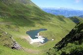 озеро brandlsee в альпах — Стоковое фото