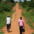 Stock Photo: Dirt Road at Tididiek Rock - Uganda, Africa