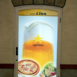 Sapporo Beer Advert Billboard, Japan — Stock Photo