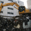 Digger Machine Landfill Sapporo, Japan - Stock Photo