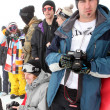 VANCOUVER - MARCH 28: Quiksilver Snowboard Snowboarding Comp - Stock Photo
