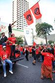 BANGKOK - NOV 19: Red Shirts Protest Demonstration - Thailand — Stock Photo