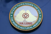 Halong Bay Sign - (UNESCO), Vietnam — Stockfoto