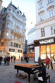 Pianist Soryang in Vienna, Austria — Stock Photo
