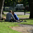 Carlton Gardens, Melbourne, Australia — Stock Photo