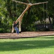 Giraffe Swing - Fitzroy Gardens, Melbourne, Australia — Stock Photo
