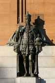 King Edward Statue - Kings Domain, Melbourne, Australia — 图库照片