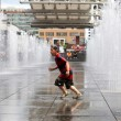 Playing in Water Fountain - Toronto, Canada — Foto Stock #13959825
