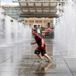 Stock Photo: Playing in Water Fountain - Toronto, Canada