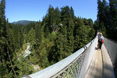 Capilano Suspension Bridge, Vancouver, Canada — Stock Photo