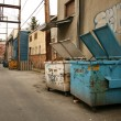 Stock Photo: Back Street Alleys in Vancouver City, BC, Canada