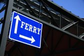 Ferry Sign - Granville Island, Vancouver, Canada — Stock Photo
