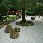 Zen Garden - Butchart Gardens, Victoria, BC, Canada — Stock Photo