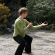 Stock Photo: Tai Chi - Sun Yat Set Chinese Garden, Vancouver, BC, Canada