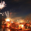 Fireworks, Victoria, BC, Canada — Stock Photo
