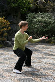 Tai Chi - Sun Yat Set Chinese Garden, Vancouver, BC, Canada — Stock Photo