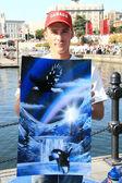 Artista de la pintura de aerosol - victoria, bc, canadá — Foto de Stock