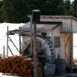 Water Mill - Grouse Mountain, Vancouver, BC, Canada — Stock Photo #14390821