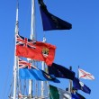 Stock Photo: Flags - Victoria, BC, Canada