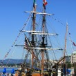 Old Fashioned Ship - Harbour , Victoria, BC, Canada — 图库照片