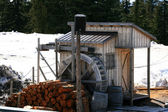 Water Mill - Grouse Mountain, Vancouver, BC, Canada — Stock Photo