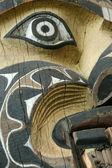 Słup totemu - muzeum antropologii, vancouver, bc, kanada — Zdjęcie stockowe
