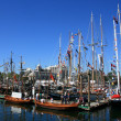 Foto Stock: Old Fashioned Ship - Harbour , Victoria, BC, Canada