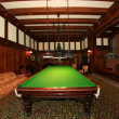 Snooker Room -  Hatley Castle, Victoria, BC, Canada - Stock Photo