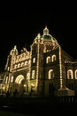 Parliament Buildings by Night , Victoria, BC, Canada — Stock fotografie