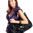 Beautiful Young Woman - With Expensive Bag — ストック写真