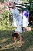 女性瑜伽大师 — 图库照片