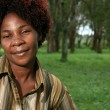 African Woman Outdoors — Stock Photo