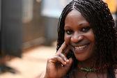 Güzel genç afrikalı kadın — Stok fotoğraf