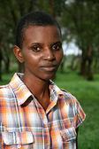 Piękna młoda kobieta afrykańska — Zdjęcie stockowe