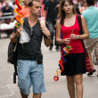 Tourists explore Chinatown — Foto Stock