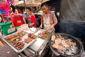Street Vendor in Chinatown — Stock Photo