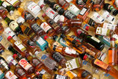 Alcohol Bottles For Sale in Chinatown — Stock Photo