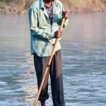 River at Chitwan NP , Nepal — Stock Photo