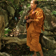 Monk Photographer in Phetchaburi, Thailand — Stock Photo