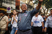 BANGKOK - JANUARY 9 2014: Suthep, leader of the anti government — Stock Photo