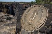David livingstone plak - victoria falls — Stok fotoğraf