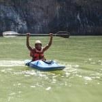 Extreme kayaker — Stock Photo