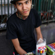 Stock Photo: Seller at largest market Chatuchak